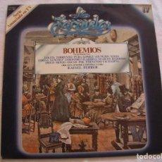 Discos de vinilo: ANTIGUO DISCO LP VINILO COLECCION LA ZARZUELA - BOHEMIOS (DG). Lote 134563698