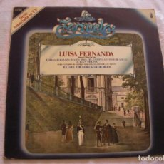 Discos de vinilo: ANTIGUO DISCO LP VINILO COLECCION LA ZARZUELA - LUISA FERNANDA (DG). Lote 134564702