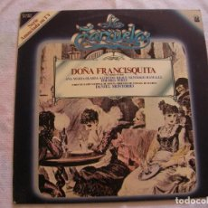 Discos de vinilo: ANTIGUO DISCO LP VINILO COLECCION LA ZARZUELA - DOÑA FRANCISQUITA (DG). Lote 134565154