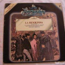 Discos de vinilo: ANTIGUO DISCO LP VINILO COLECCION LA ZARZUELA - LA REVOLTOSA (DG). Lote 134566846