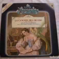 Discos de vinilo: ANTIGUO DISCO LP VINILO COLECCION LA ZARZUELA - LA CANCION DEL OLVIDO (DG). Lote 134569038
