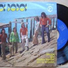 Discos de vinilo: LOS DADOS - TINUCA + GIRL + HAPPY SUMMER + GIRL OR WOMAN - EP 1975 - NEW PROMOTION / ANA - MUY RARO. Lote 134596746