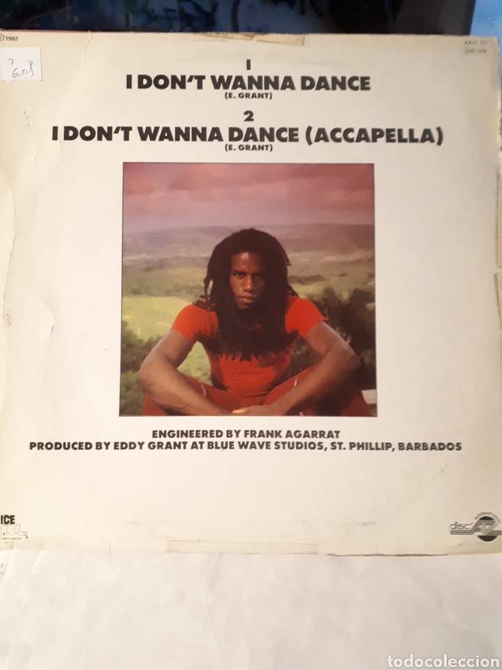 Discos de vinilo: Eddy Grant-I Do not Wanna Dance - Foto 2 - 134637326