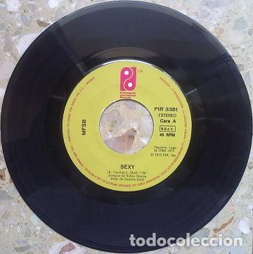 Discos de vinilo: MFSB ?– Sexy / Máquina Humana (España, 1975) - Foto 3 - 134700534