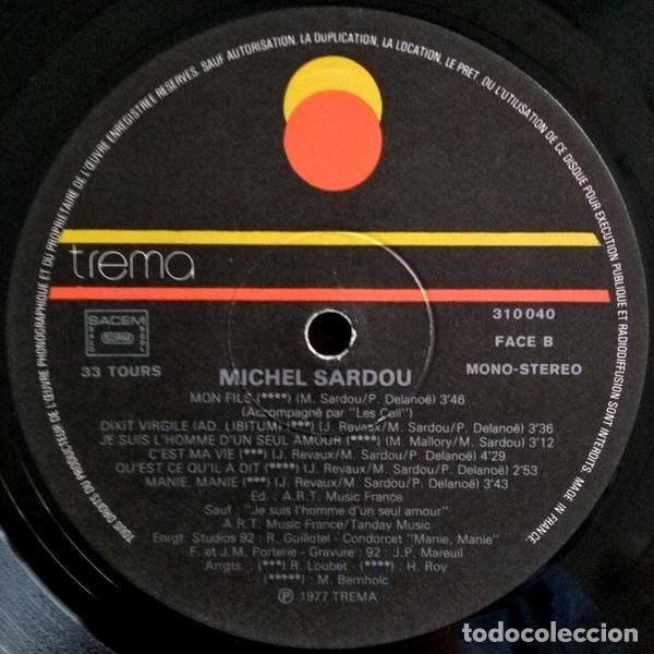 Discos de vinilo: Michel Sardou ?– Michel Sardou (France, 1977) - Foto 3 - 134711270