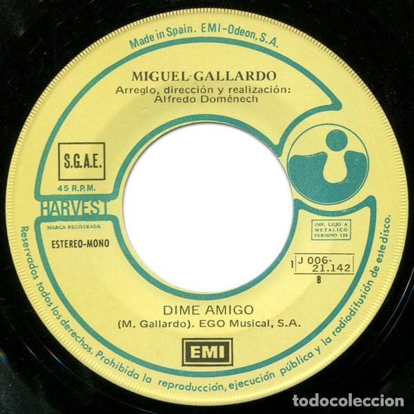 Discos de vinilo: Miguel Gallardo ?– Quédate (España, 1974) - Foto 4 - 134711942