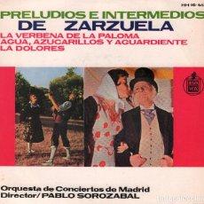 Discos de vinilo: PRELUDIOS E INTERMEDIOS DE ZARZUELA VOL 1 / EP HISPAVOX DE 1964 RF-3560 , BUEN ESTADO. Lote 134729814