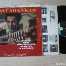 Discos de vinilo: RAVI SHANKAR - IN CONCERT -LP USA WORLD PACIFIC 1962 // HINDUSTANI RAGA SITAR TABLA PSYCH-FEEL. Lote 134741942