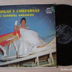 Discos de vinilo: BANDA CUBAVANA Y GRUPO AFRO CUBANO - CONGAS Y COMPARSAS DEL CARNAVAL HABANERO - LP USA PANART 1959 . Lote 134743862