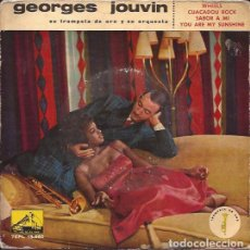 Discos de vinilo: EP- GEORGES JOUVIN CUACADOU ROCK VSA.13660 SPAIN 1961. Lote 134750638
