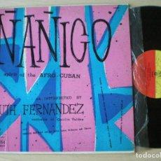Discos de vinilo: RUTH FERNANDEZ WITH OBDULIO MORALES & HIS NATIVE CUBAN ORCH - NANIGO - LP USA MONTILLA 1955 // LATIN. Lote 134753546