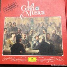 Discos de vinilo: 8 DISCOS DE VINILO DE LA GRAN MÚSICA DE VIVALDI BASCH ROSENNI Y VAGNER. Lote 134756923