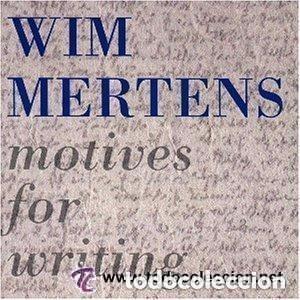 WIM MERTENS ( MOTIVES FOR WRITING ) LP 1989 ESPAÑA (Música - Discos - LP Vinilo - Electrónica, Avantgarde y Experimental)
