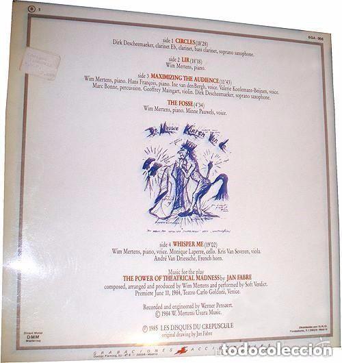 Discos de vinilo: WIM MERTENS - MAXIMIZING THE AUDIENCE - DOBLE LP SPAIN 1985 (CARPETA ABIERTA) - Foto 2 - 134764750