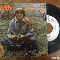 Discos de vinilo: JOHN DENVER -LIKE A SAD SONG -SINGLE PROMO 1976 -PEDIDO MINIMO 3 EUROS. Lote 134792014