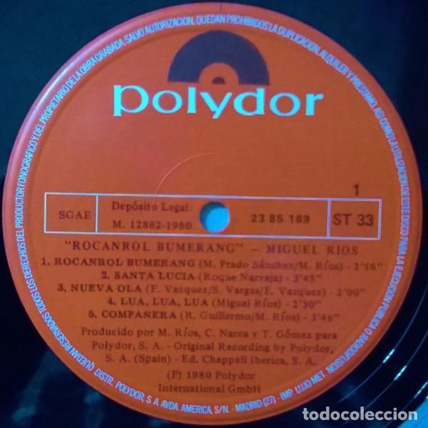 Discos de vinilo: Miguel Rios ?– Rocanrol Bumerang (España, 1980) - Foto 3 - 134807382