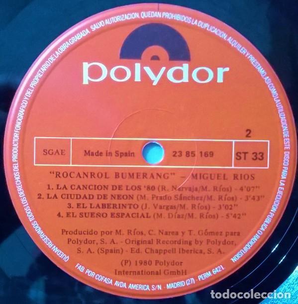 Discos de vinilo: Miguel Rios ?– Rocanrol Bumerang (España, 1980) - Foto 4 - 134807382