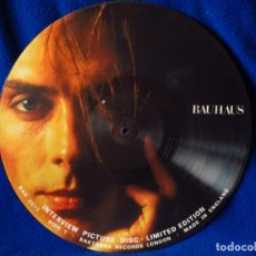 Discos de vinilo: BAUHAUS - LP 19¿? - INTERVIEW PICTURE DISC LIMITED EDITION - UNOFFICIAL RELEASE. Lote 134827814