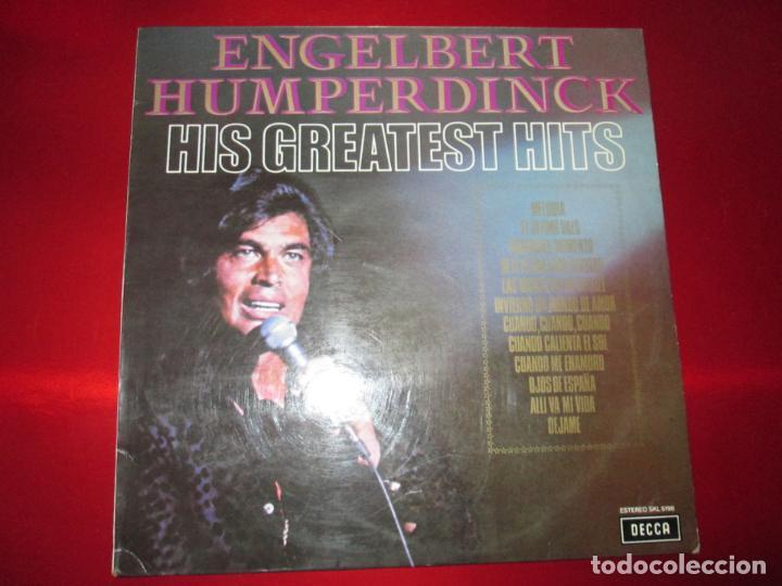 LP-ENGELBERT HUMPERDINCK HIS GREATEST HITS-DECCA(SLK 5198)-1975-BUEN ESTADO-VER FOTOS (Música - Discos - LP Vinilo - Cantautores Internacionales)