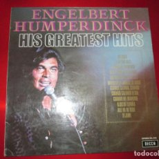 Discos de vinilo: LP-ENGELBERT HUMPERDINCK HIS GREATEST HITS-DECCA(SLK 5198)-1975-BUEN ESTADO-VER FOTOS. Lote 134832982