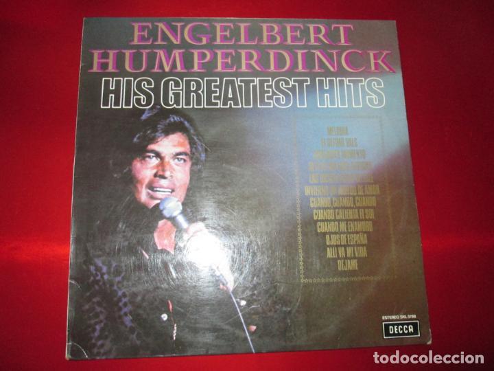 Discos de vinilo: LP-ENGELBERT HUMPERDINCK HIS GREATEST HITS-DECCA(SLK 5198)-1975-BUEN ESTADO-VER FOTOS - Foto 3 - 134832982