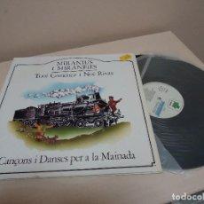 Discos de vinilo: MIRANIUS I MIRANEIES- TONI GIMENEZ I NOE RIVAS- CANCONS I DANSES PER A LA MAINADA -LA GRANOTA- 1982-. Lote 134833926
