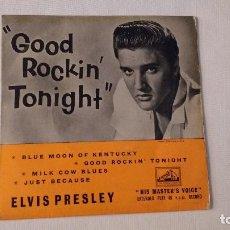 Discos de vinilo: EP A 45 RPM DEL CANTANTE NORTEAMERICANO DE ROCK AND ROLL ELVIS PRESLEY. Lote 134836134