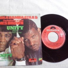 Discos de vinilo: MUSICA SINGLE: AFRIKA BAMBAATAA & JAMES BROWN - UNITY (ABLN). Lote 134841514