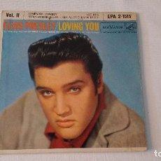 Disques de vinyle: EP A 45 RPM DEL CANTANTE NORTEAMERICANO DE ROCK AND ROLL ELVIS PRESLEY. Lote 134843894