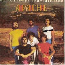 Disques de vinyle: APACHE - TU NO TIENES SENTIMIENTOS / EL AMOR SERA PLACER (SINGLE PROMO ESPAÑOL, EPIC 1980). Lote 212955630