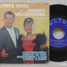 Discos de vinilo: DOLORES ABRIL Y JUANITO VALDERRAMA MALAGA TIERRA SEÑORA EP VINILO MADE IN SPAIN 1963. Lote 134882526