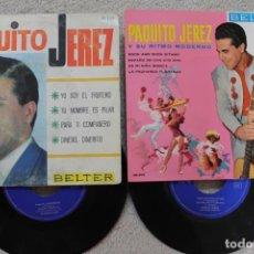 Discos de vinilo: LOTE 2 EP PAQUITO JEREZ VINILOS MADE IN SPAIN 1961/1966. Lote 197707267
