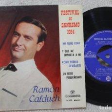 Discos de vinilo: RAMON CALDUCH FESTIVAL DE SANREMO 1964 EP VINYL MADE IN SPAIN 1964. Lote 134886266