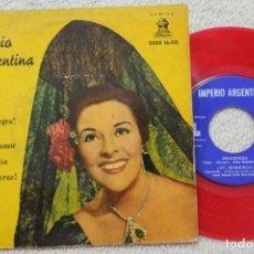Discos de vinilo: IMPERIO ARGENTINA AY MI SUEGRA EP VINYL COLOR ROJO MADE IN SPAIN 1961. Lote 134886502