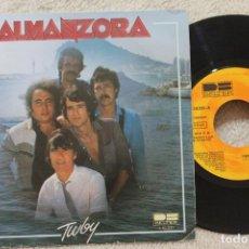 Discos de vinilo: ALMANZORA TWBY JUDITH SINGLE VINYL MADE IN SPAIN 1981. Lote 134887914