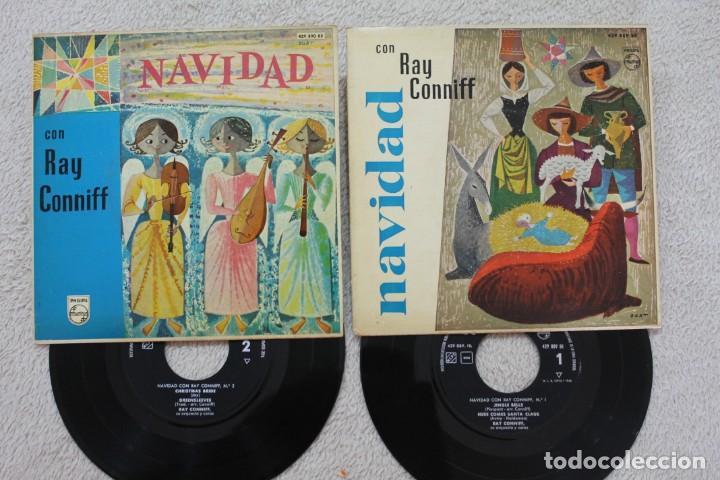 LOTE 2 SINGLES EP NAVIDAD CON RAY CONNIFF Y SU ORQUESTA VINYLS MADE IN SPAIN 1960 (Música - Discos de Vinilo - EPs - Orquestas)