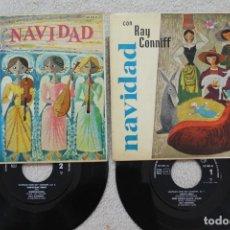 Discos de vinilo: LOTE 2 SINGLES EP NAVIDAD CON RAY CONNIFF Y SU ORQUESTA VINYLS MADE IN SPAIN 1960. Lote 134890946