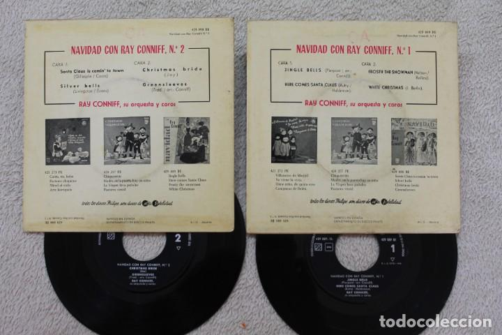 Discos de vinilo: LOTE 2 SINGLES EP NAVIDAD CON RAY CONNIFF Y SU ORQUESTA VINYLS MADE IN SPAIN 1960 - Foto 2 - 134890946