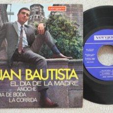 Discos de vinilo: JUAN BAUTISTA EL DIA DE LA MADRE EP VINYL MADE IN SPAIN 1967. Lote 134891122