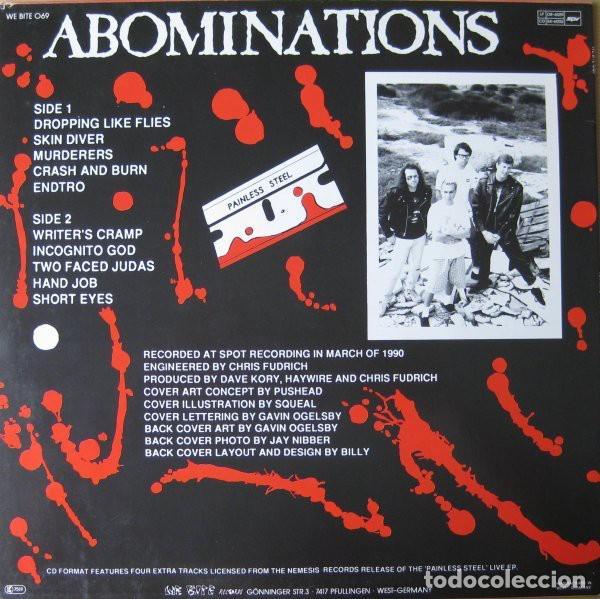 Discos de vinilo: Haywire – Abominations- LP VINYL 1990 GERMANY - HARDCORE METAL - Foto 2 - 134892354