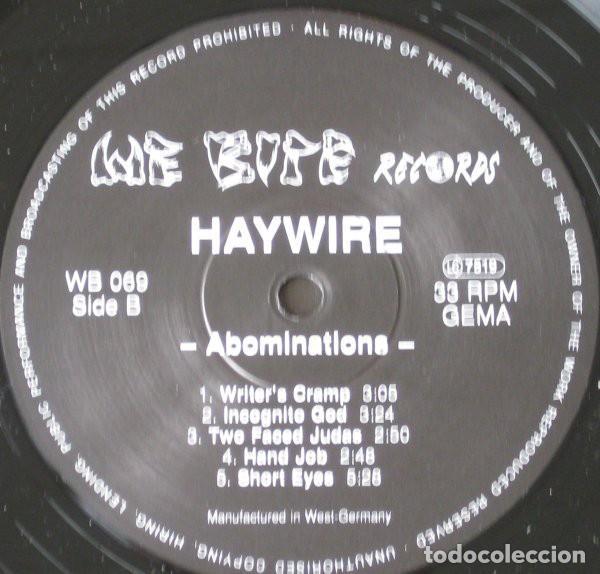 Discos de vinilo: Haywire – Abominations- LP VINYL 1990 GERMANY - HARDCORE METAL - Foto 4 - 134892354