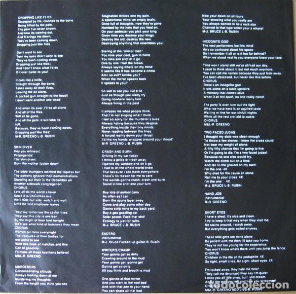 Discos de vinilo: Haywire – Abominations- LP VINYL 1990 GERMANY - HARDCORE METAL - Foto 5 - 134892354