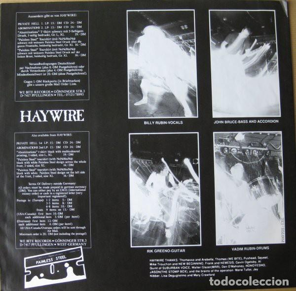 Discos de vinilo: Haywire – Abominations- LP VINYL 1990 GERMANY - HARDCORE METAL - Foto 6 - 134892354