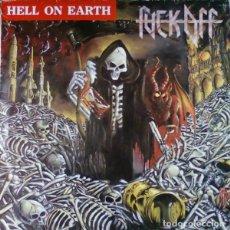 Discos de vinilo: FUCK OFF – HELL ON EARTH - LP VINYL 1990 SPAIN - THRASH , HEAVY METAL. Lote 134892690