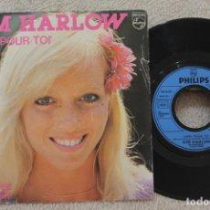 Discos de vinilo: KIM HARLOW LIBRE POUR TOI SINGLE VINYL MADE IN FRANCE 1980. Lote 134893090