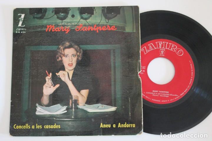 MARY SANTPERE CONCELLS A LES CASADES SINGLE VINYL MADE IN SPAIN 1963 (Música - Discos - Singles Vinilo - Solistas Españoles de los 50 y 60)