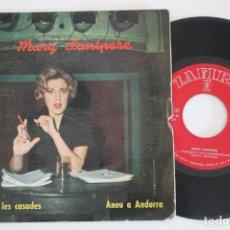 Discos de vinilo: MARY SANTPERE CONCELLS A LES CASADES SINGLE VINYL MADE IN SPAIN 1963. Lote 134893870