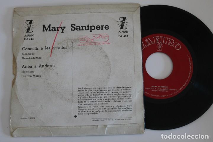 Discos de vinilo: MARY SANTPERE CONCELLS A LES CASADES SINGLE VINYL MADE IN SPAIN 1963 - Foto 2 - 134893870