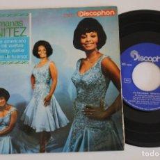 Discos de vinilo: HERMANAS BENITEZ EL FOLKLORE AMERICANO EP VINYL MADE IN SAPIN 1966. Lote 134894390