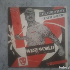 Discos de vinilo: THEATRE OF HATE. WESTWORLD. CARPETA Y DISCO EN BUEN ESTADO. Lote 134901506